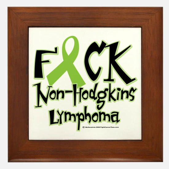 Fuck-NH-Lymphoma Framed Tile