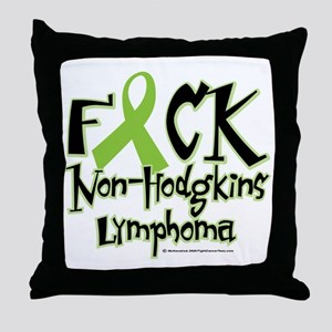 Fuck-NH-Lymphoma Throw Pillow