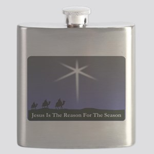 Jesus is the reason for the season Christmas Flask