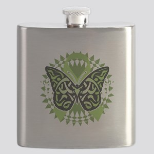 NH-Lymphoma-Butterfly-Tribal-blk Flask