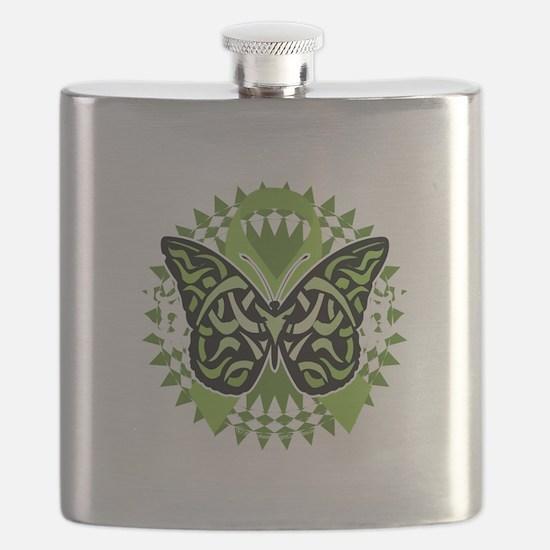NH-Lymphoma-Butterfly-Tribal-blk Flask