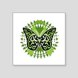 "NH-Lymphoma-Butterfly-Triba Square Sticker 3"" x 3"""