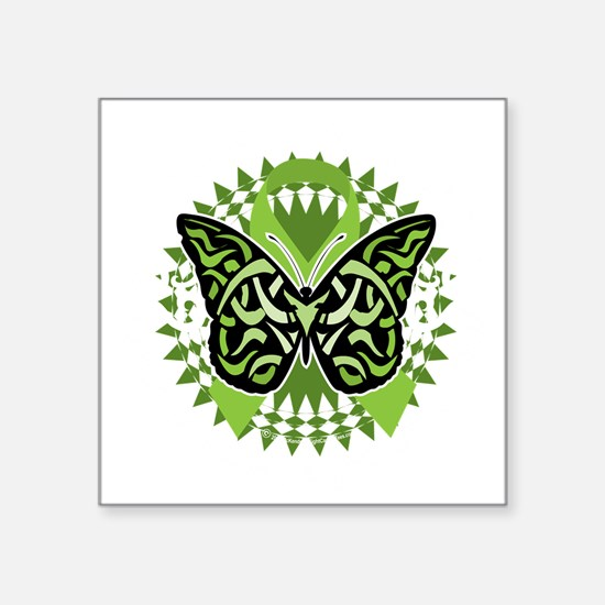 "NH-Lymphoma-Butterfly-Triba Square Sticker 3"" x 3"""