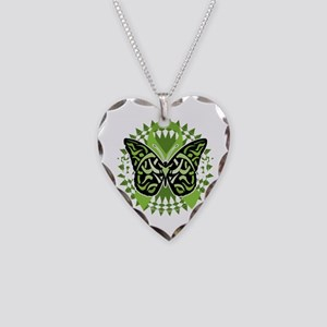 NH-Lymphoma-Butterfly-Tribal- Necklace Heart Charm
