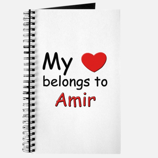 My heart belongs to amir Journal