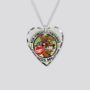 NH-Lymphoma-Can-Kiss-My-Ass Necklace Heart Charm