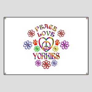 Peace Love Yorkies Banner