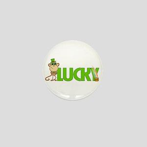 Lucky Monkey Mini Button