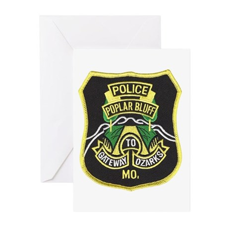 Poplar Bluff Police Greeting Cards (Pk of 10)