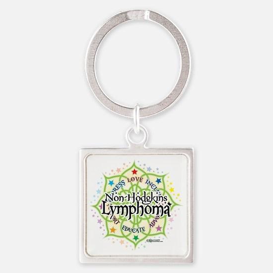 NH-Lymphoma-Lotus Square Keychain
