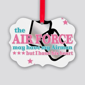His heart Air Force Picture Ornament