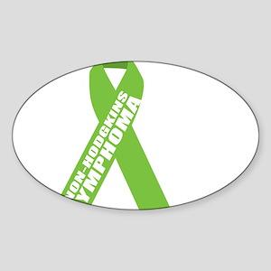 NH-Lymphoma--Hope-BLK Sticker (Oval)