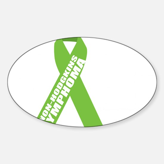NH-Lymphoma--Hope-BLK Sticker (Oval)