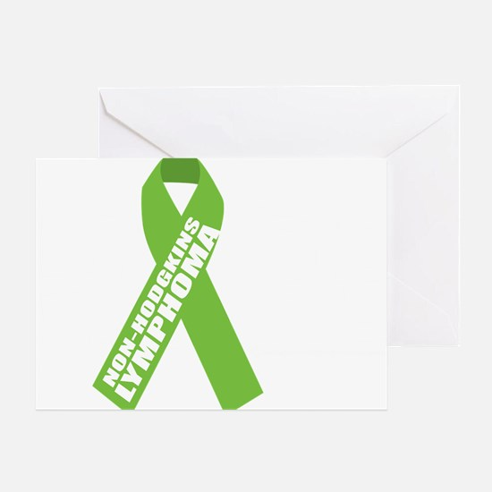 NH-Lymphoma--Hope-BLK Greeting Card
