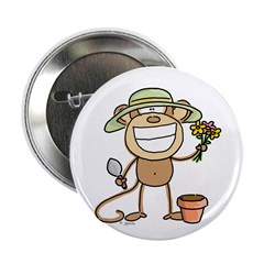 Gardening Monkey Button