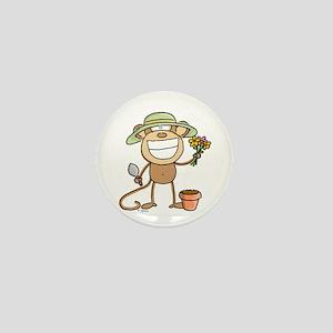 Gardening Monkey Mini Button