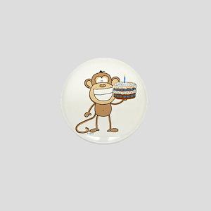 Birthday Cake Monkey Mini Button