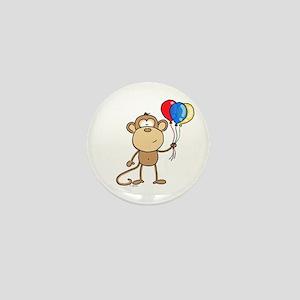 Monkey with Balloons Mini Button