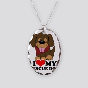 I love my Rescue Dog Necklace Oval Charm