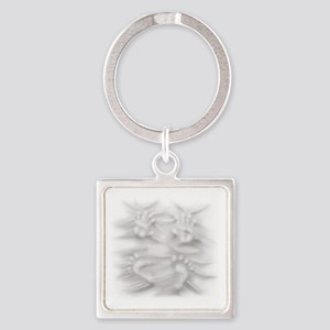 Hands And Feet Square Keychain