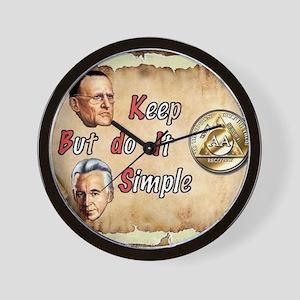 BILL  BOB WITH COIN Wall Clock