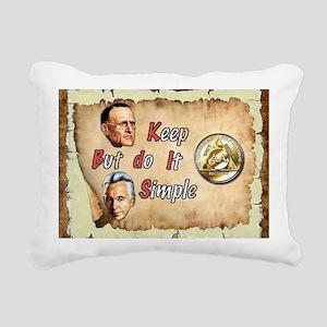 BILL  BOB WITH COIN Rectangular Canvas Pillow