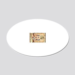 BILL  BOB WITH COIN 20x12 Oval Wall Decal