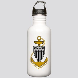 USCG-Rank-CPO-Anchor Stainless Water Bottle 1.0L
