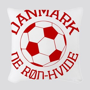 soccerballDK1 Woven Throw Pillow