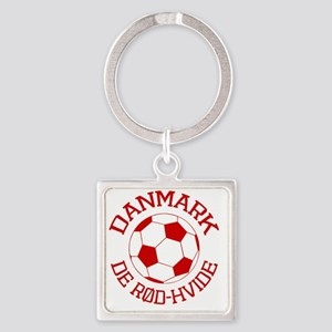 soccerballDK1 Square Keychain
