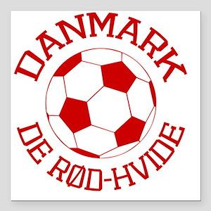 "soccerballDK1 Square Car Magnet 3"" x 3"""