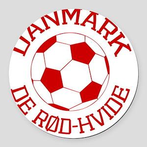 soccerballDK1 Round Car Magnet