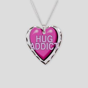 2-HUG ADDICT Necklace Heart Charm