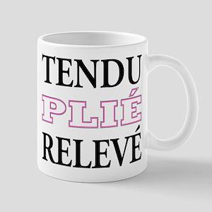 Tendu, Plie, Releve (Pink Design) Large Mugs