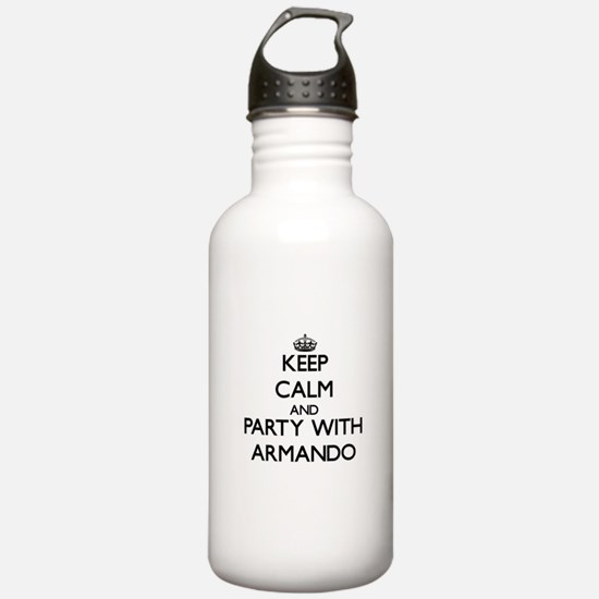 Keep Calm and Party with Armando Water Bottle
