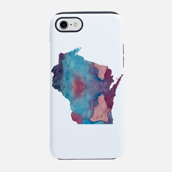 Wisconsin silhouette iPhone 7 Tough Case