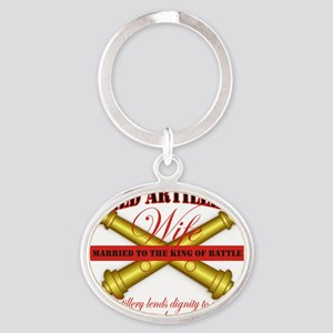field artillery wife Oval Keychain