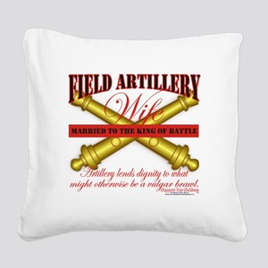 field artillery wife Square Canvas Pillow