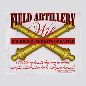 field artillery wife Throw Blanket