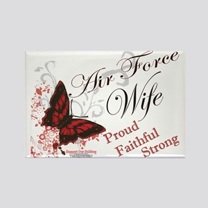 air force wife butterfly red Rectangle Magnet