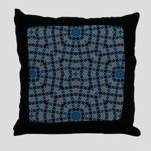 kaleido art blue boxes Throw Pillow