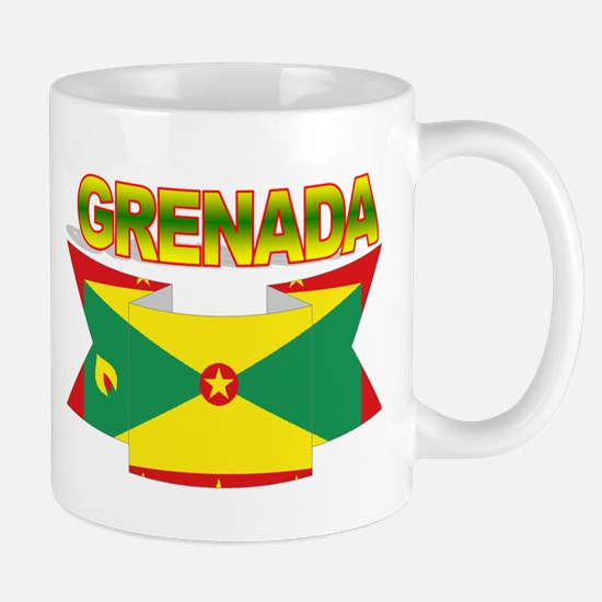 Grenada Flag Ribbon Mug