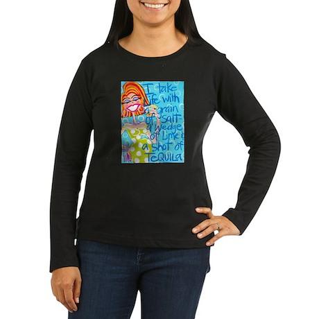 Tequila Goddess Women's Long Sleeve Dark T-Shirt