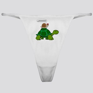 Snail on Turtle Classic Thong