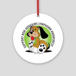 Non-Hodgkins-Lymphoma-Dog Round Ornament