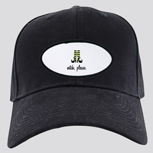 Witch, Please Black Cap with Patch