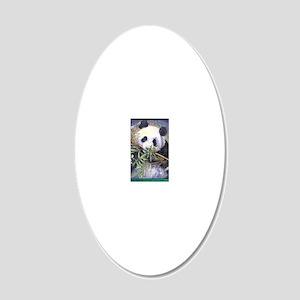 panda_progress 20x12 Oval Wall Decal