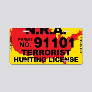 TH-License-NRA Aluminum License Plate