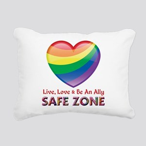 Safe Zone - Ally Rectangular Canvas Pillow
