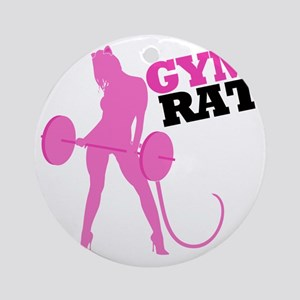 gym-rat Round Ornament
